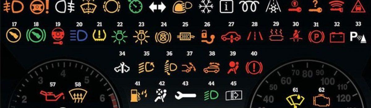 Ý nghĩa các loại đèn báo trên bảng táp-lô xe hơi